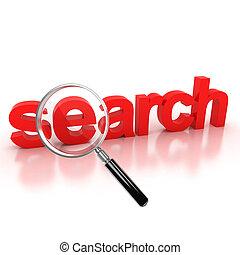search icon - search - search icon - search 3d letters under...