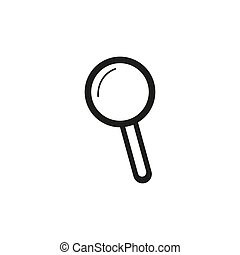 Search icon vector. Found find concept. Magnifying glass Sign isolated on white background. Flat design style for web, website, mobile app