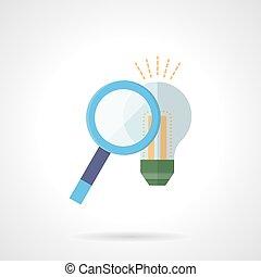 Search idea concept flat color vector icon