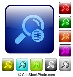 Search in compressed files color square buttons