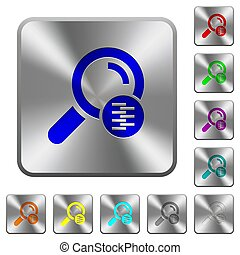 Search in compressed files rounded square steel buttons