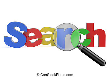search in internet concept