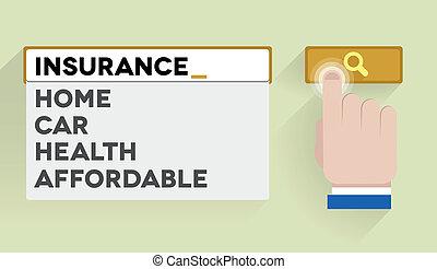 search insurance - minimalistic illustration of a search bar...