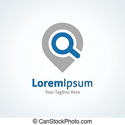 Search internet web with magnifying glass locator vector ...