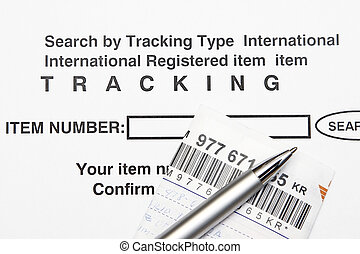 Tracking number - Search item by entering Tracking number...