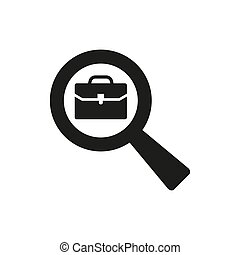 Search job icon on white background.