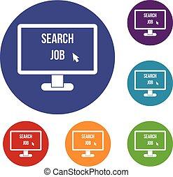 Search Job icons set