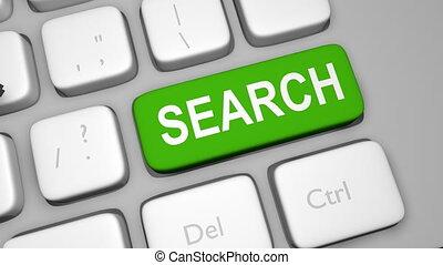 Search keyboard key animation shot clip