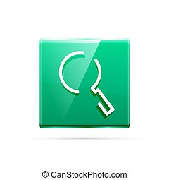 Search magnifyier web button, magnify icon. Modern...