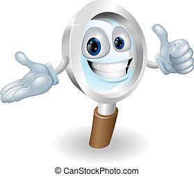 Search mascot character illustratio