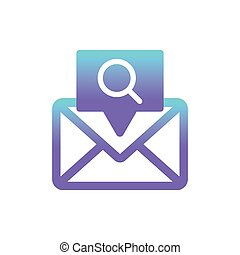 search message vector icon concept