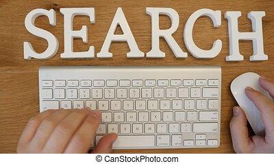 Search online concept shot clip