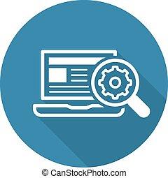 Search Optimization Icon. Flat Design.
