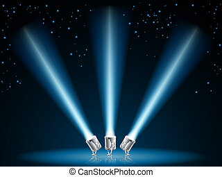 Search or spot lights illustration - Illustration of search...