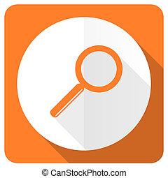 search orange flat icon