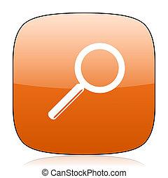 search orange square web design glossy icon