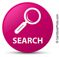 Search pink round button
