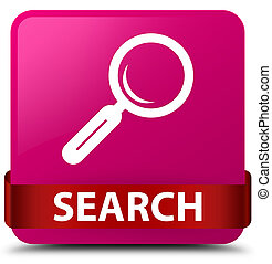 Search pink square button red ribbon in middle