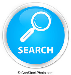 Search premium cyan blue round button