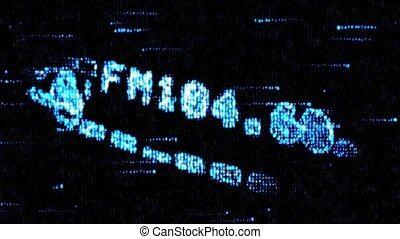 Search radio signals in the FM band. Computer code. - Search...