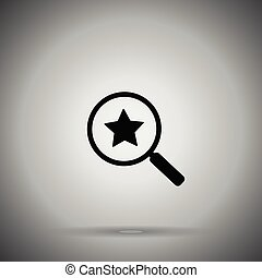 search rating icon. Look for rating . Magnifier and Star