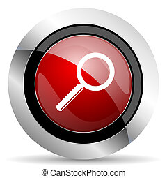 search red glossy web icon