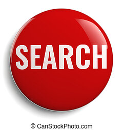 Search Red Round Symbol Isolated