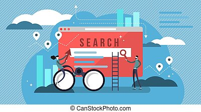 Search results vector illustration. Banner with engine answers to question.