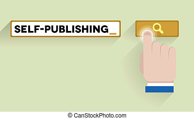 search self-publishing - minimalistic illustration of a...