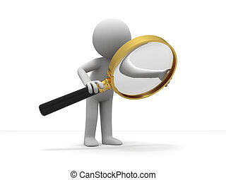 Search - A person is using the magnifying glass