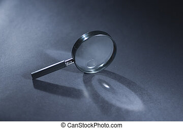 Search - magnifying glass with shadow
