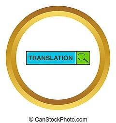 Search translation icon