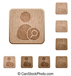 Search user wooden buttons