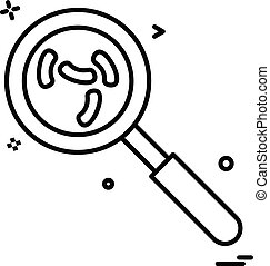 search virus icon vector design