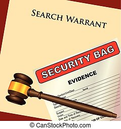 Search Warrant and evidence - A search warrant with a ...