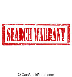 Grunge rubber stamp with text Search Warrant, vector illustration