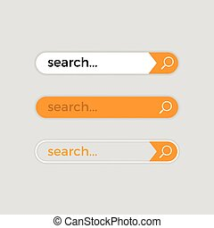 Search web bar, vector internet user interface