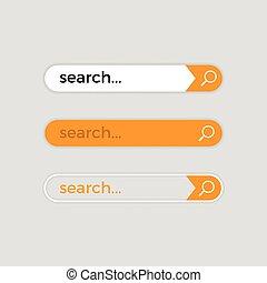 Search web bar, vector internet user interface