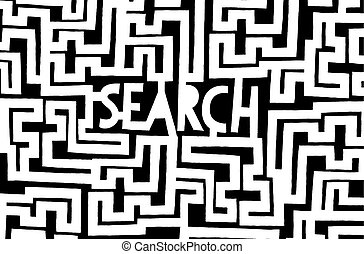 Search word inside complex maze