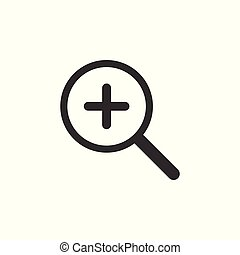 Search, zoom icon. Vector illustration. Flat design.