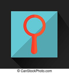 searching cartoon loupe icon yellow background