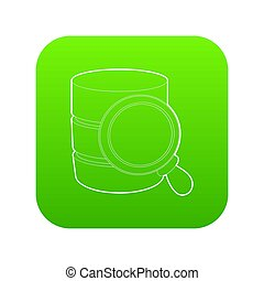 Searching database icon green