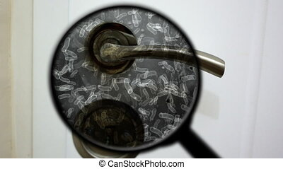 Searching for bacteria on door knob