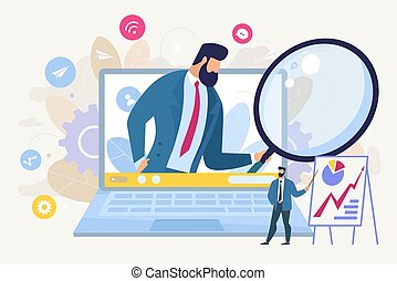 Searching for Business Idea Flat Vector Concept