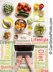Searching for healthy vegetarian recipes online