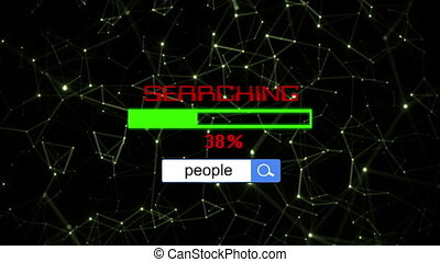 Searching for people online concept