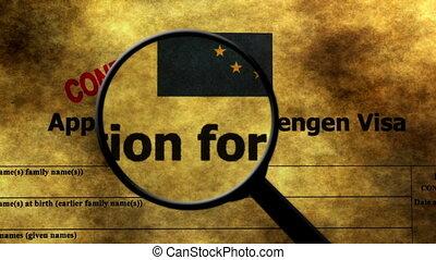 Searching for Schengen visa application
