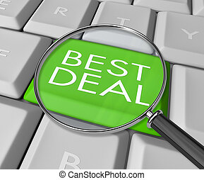 Searching for the Best Deal on the Internet - A keyboard...