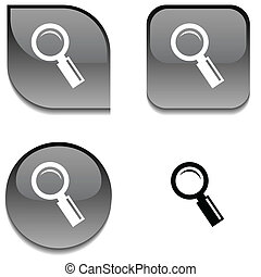 Searching glossy button.