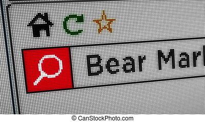 Searching internet bear market